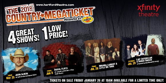 2018 Country Megaticket Tickets (Includes All Performances) at Xfinity Theatre