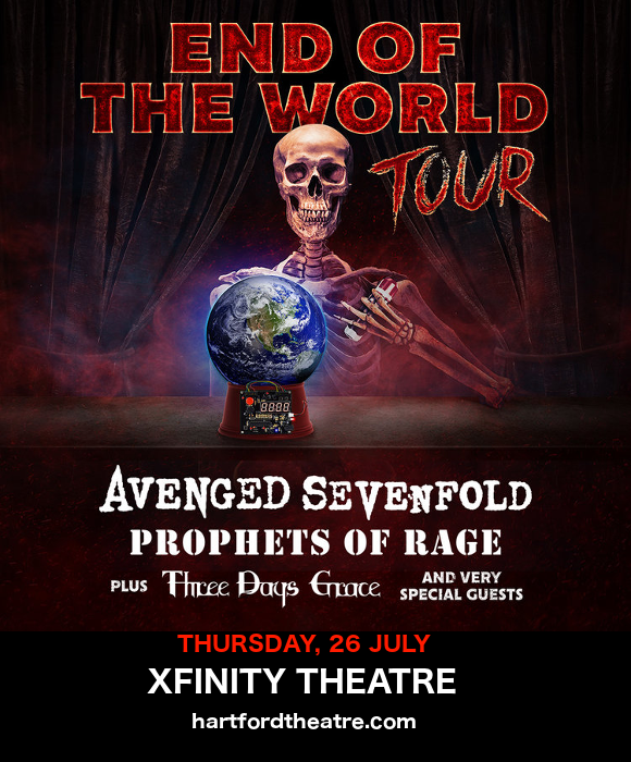 End of the World Tour: Avenged Sevenfold, Prophets of Rage & Three Days Grace at Xfinity Theatre