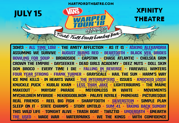 Vans Warped Tour at Xfinity Theatre
