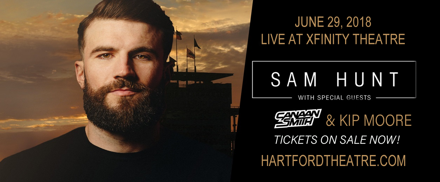 Sam Hunt, Kip Moore & Conner Smith at Xfinity Theatre