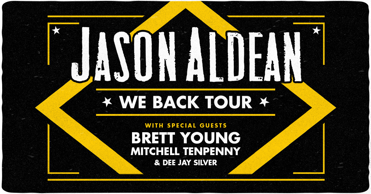 Jason Aldean, Brett Young, Mitchell Tenpenny & Dee Jay Silver at Xfinity Theatre