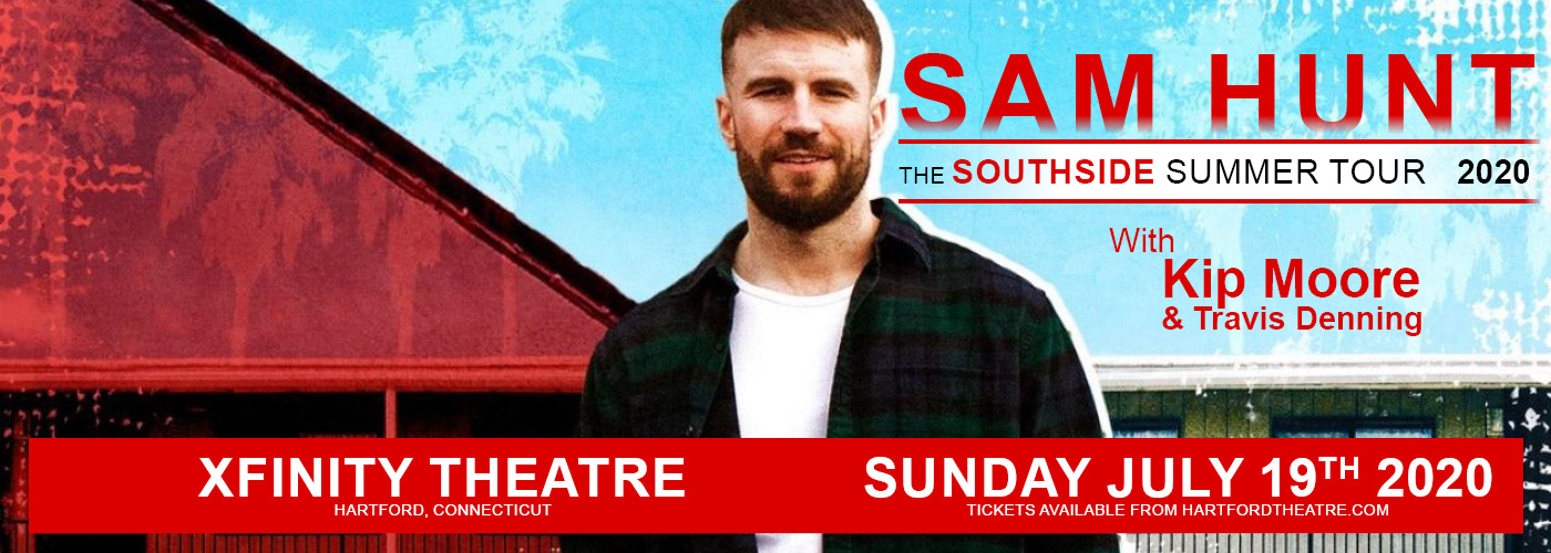 Sam Hunt, Kip Moore & Travis Denning [CANCELLED] at Xfinity Theatre